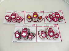 Paper & Card Craft Punch Sets of 3 - Heart, Star, Flower or Butterfly Punches