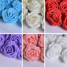 20/50pcs Lot 8cm Roses Head Artificial PE Silk Flower Heads Hair Wedding Bouquet