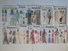 Simplicity Pattern Women Skirt Pants Shorts Dress Blouse Tops Vest Jackets UNCUT