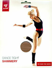 Shiny Shimmer Tights by Rumpf Full Footed Stirrup Dance Gymnastics Majorettes