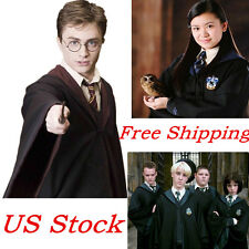 Harry Potter Costume Adult Robe Gryffindor/Slytherin/Hufflepuff/Ravenclaw Cloak