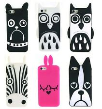 Cartoon Marc Jacobs Zebra Owl Dog case silicon for Apple iPhone 4 4S iPhone 5 D