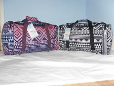 Super Lightweight Cabin Friendly Holdall Bags In Trendy Aztec Print.