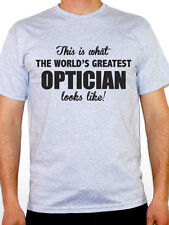 WORLDS GREATEST OPTICIAN - Eyes / Contact Lens / Optometry Themed Mens T-Shirt