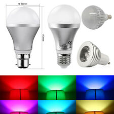 E27 B22 RGB 5W Colour Changing Dimmable LED  Bulb Light Lamp+FREE Remote Control
