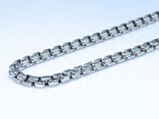 New Real 10k White Gold Cable Hollow Rolo Link Chain Necklace 2.2 mm 30-38 Inch