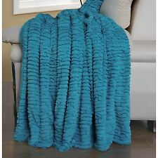 BNF Home Colleen Air Cloud Faux Fur Bed Couch Blanket Throw Coverlet 60x70""