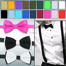 Adjustable Plain Formal Wedding Groom Tuxedo Suit Pre Tied Dicky Bow Tie Bowties
