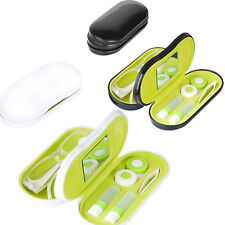Balvi Eyeglasses Spectacles Contact Lens Case Double Twin Holder Box Black White
