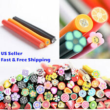 New Bundle 3D Nail Art Fimo Canes Sticks Rods Polymer Clay Stickers Gel Tips