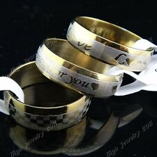 Fashion 15pcs-100pcs Arc Stainless Steel Womens Mens Gold Rings Wholesale Lots