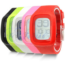 Mens Womens Waterproof Digital LED Touch Sports Silicone Bracelet Wrist Watch