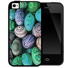 Aztec Colorful Easter Holiday Rubber Cell Phone Case For iPhone 4 4s 5 5s 5c