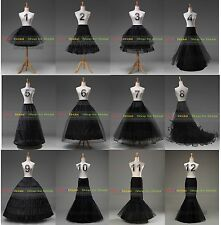 White/Black Bridal Petticoat Crinoline Underskirt Hoop/Hoopless/Mermaid/Fishtail