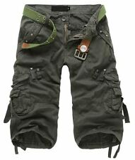 Hot Mens Casual Summer Shorts Military Work Cargo Fashion Overalls Slacks Pants