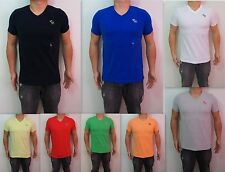 NEW Abercrombie & Fitch AF Men Muscle Fit Wolf Pond Tee V neck Short Shirt