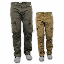 mens jeans Jack South chinos cotton cargo combat casual straight leg pants