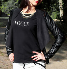 VOGUE T SHIRT WHITE BLACK CELINE TOP WOMEN NEW TEE COCO HYPE  SELFIE FITNESS GYM