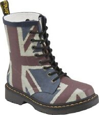 Dr. Martens Women's Drench Casual Lace Up Rubber Ankle Boots Classic Union Jack
