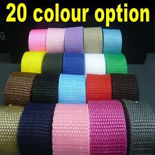 "25mm 1"" Polypropylene Webbing Belting Fabric Strap DIY Bag Making Tape Strapping"