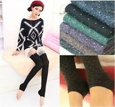 Womens Winter Pants Thick Stretch Skinny Tights Socks Stirrup Footless Leggings