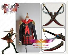Anime Final Fantasy Type-0 Rem Cosplay Costume And Dual Blade Prop FF Zero