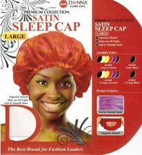 DONNA PREMIUM COLLECTION SATIN SLEEP CAP LARGE SUPERIOR STRETCH #11009 ASST.