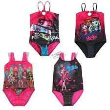 MONSTER HIGH Girls Kids Bikini Swimsuit Swimwear Bathing Suit One Piece Age 5-14