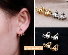 Gothic Punk Rock Gold Silver Eagle Claw Ear Wrap Cuff Mens Womens Stud Earrings