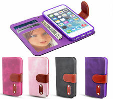 Apple I Phone 5 & 5S Leather Wallet Case/Cover + Bonus Screen Protector + Stylus