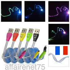 Cable Chargeur USB LED Data Sync Pour Iphone 4 4s 5 5s Samsung Htc Nokia Sony
