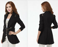 women's Slim long sections suits jackets Puff three-quarter sleeves jackets coat