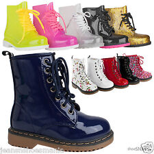 New Girl's CuteJelly Rubber Military Rain Boots Combat Kids Booties Youth Shoes