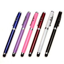 4 in 1 Laser Pointer Torch LED Flashlight Touch Screen Stylus Ballpen For Tablet