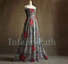 Red Rose Woman Plus Size XL 1X 2X 3X 4X Extra Long Maxi Prom Gown Casual Dress