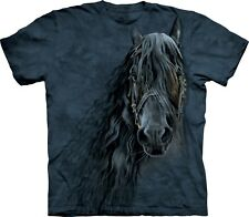 The Mountain Kinder T-Shirt - Forever Friesian Friese Pferd Gesicht S M L XL