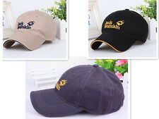 100% Cotton *Jack Wolfskin* baseball Golf Casual Embroidery Black Color Hat Cap