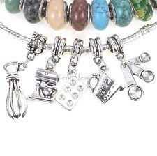 Kitchen Utensil European Dangle Bead Large Hole Charm for Charm Bracelet