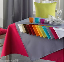 Quality Extra Large Rectangular Fabric Tablecloth Plain - Choice of Colours