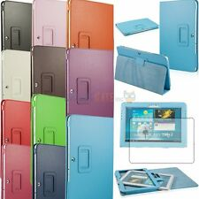 "Slim Folio PU Leather Stand Case Cover for Samsung Galaxy Tab2 10.1"" P5100+Film"