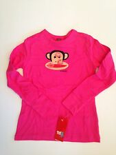 NWT Small Paul Frank Girl Pink Monkey Julius Long Sleeve T-Shirt 3 3T 4 4T 5 6