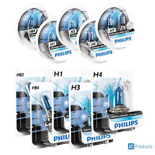 PHILIPS DIAMOND VISION CAR BULBS. H1 H3 H4 H7 H11 HB3 HB4 FITTINGS AVAILABLE