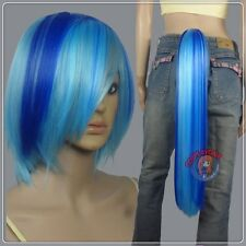 DJ Pon3 Wig Tail Set - Friendship is Magic - Blue - Cosplay DNA Wigs A27