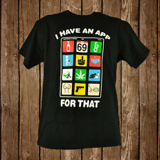 I Have An App For That Man Tshirt Spencers Adult Fashion Funny Graphic Tee Black