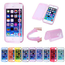 Slim Soft TPU Silicone Transparent Clear Flip Case Cover For Apple iPhone 5 5S