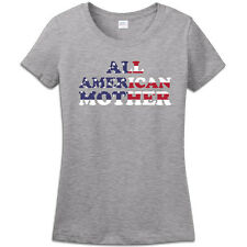 USA flag All American Mother Gifts For Mother T Shirt Ladies Women Tee T Shirt