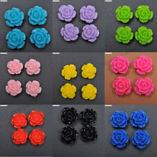 Wholesale 12MM 10MM Resin flowers cameos fit Cabochons settings flatback beads