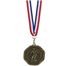 Football Player medals with ribbons AM917G - Set of 5 or single! FREE ENGRAVING
