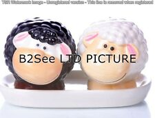 salt and pepper shakers, cartoon animals on a dish , ceramics A quality