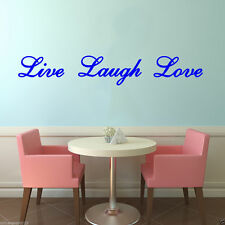 Live Laugh Love wall art quote / wall sticker / wall decal Free Postage